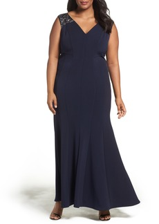 Alex Evenings Embellished Fit & Flare Gown (Plus Size)