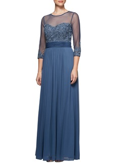 Alex Evenings Embellished Gown (Regular & Petite)