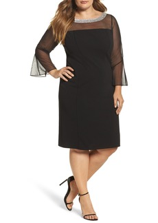 Alex Evenings Embellished Illusion Shift Dress (Plus Size)