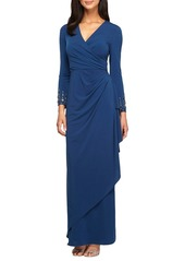 Alex Evenings Embellished Jersey Gown