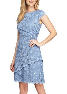 Alex Evenings Embellished Lace Sheath Dress