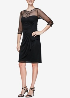 Alex Evenings Embellished Ruched Dress