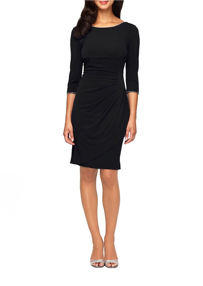 ALEX EVENINGS Embellished Sheath Dress