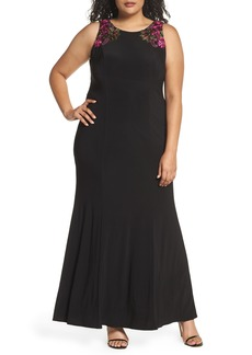 Alex Evenings Embellished Sheath Gown (Plus Size)