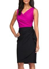 Alex Evenings Colorblock Sheath Dress (Regular & Petite)