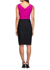 Alex Evenings Colorblock Sheath Dress (Regular & Petite)