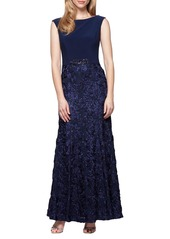 Alex Evenings Embellished Soutache Ballgown (Regular & Petite)