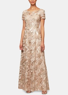 Alex Evenings Embellished Soutache Gown