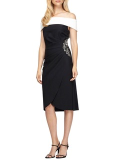 Alex Evenings Embellished Stretch Dress