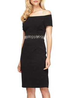 Alex Evenings Embellished Stretch Dress