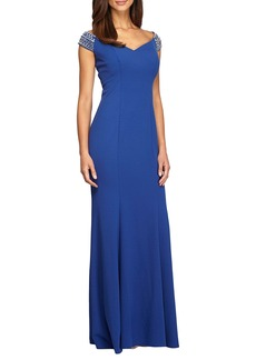 Alex Evenings Embellished Stretch Gown