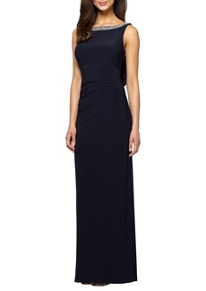 Alex Evenings Embellished Stretch Gown (Regular & Petite)