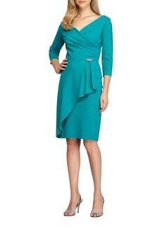 Alex Evenings Embellished Surplice Sheath Dress