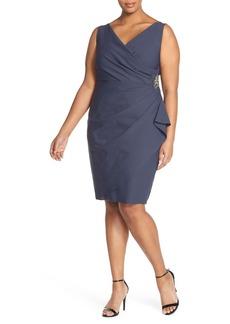 Alex Evenings Embellished Surplice Sheath Dress (Plus Size)