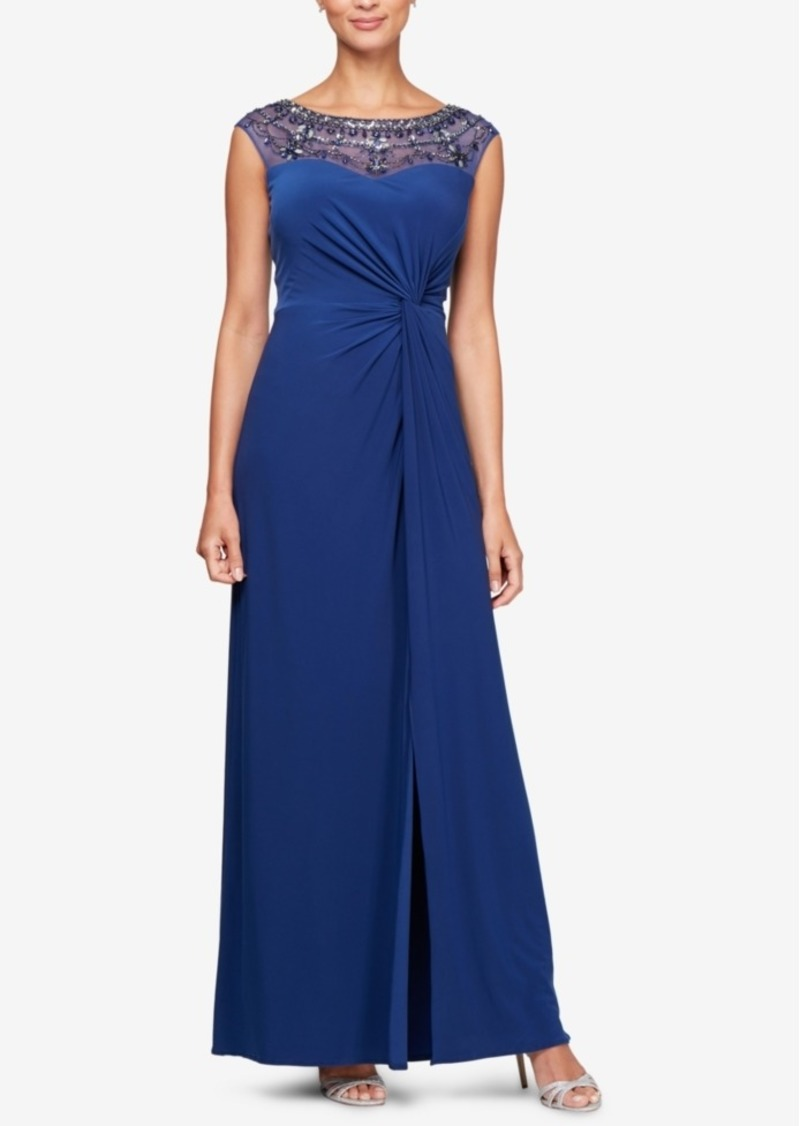 Alex Evenings Embellished Sweetheart Gown