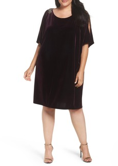 Alex Evenings Embellished Velvet Shift Dress (Plus Size)