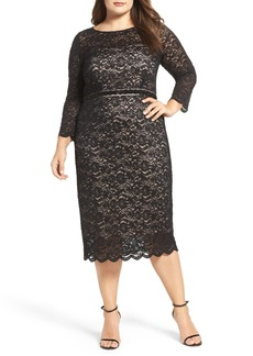 Alex Evenings Embellished Waist Sheath Dress (Plus Size)