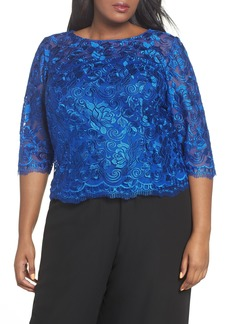 Alex Evenings Embroidered Blouse (Plus Size)