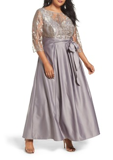Alex Evenings Embroidered Bodice Ballgown (Plus Size)