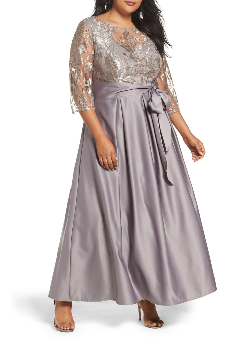 Alex Evenings Alex Evenings Embroidered Bodice Ballgown (Plus Size ...