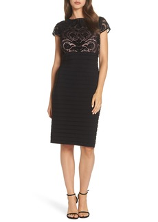 Alex Evenings Embroidered Bodice Sheath Dress