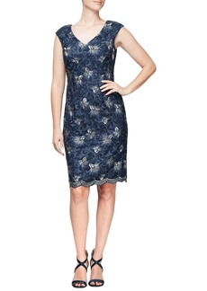 Alex Evenings Embroidered Dress