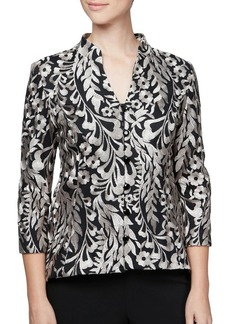 Alex Evenings Embroidered High-Low Jacket