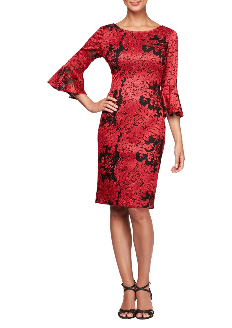 2ca191584f Alex Evenings Alex Evenings Embroidered Lace Shift Dress