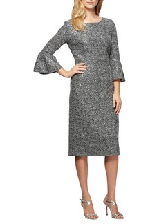 Alex Evenings Embroidered Lace Shift Dress (Regular & Petite)