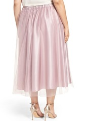 Alex Evenings Full Tea Length Skirt (Plus Size)