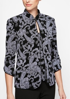 Alex Evenings Glitter-Print Jacket & Top