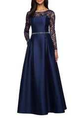 Alex Evenings Illusion Neckline Gown