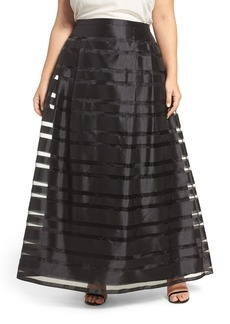Alex Evenings Illusion Stripe A-Line Ballgown Skirt (Plus Size)