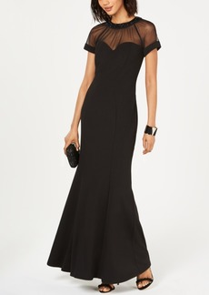 Alex Evenings Petite Illusion Sweetheart Gown