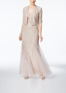 Alex Evenings Lace A-Line Gown And Jacket