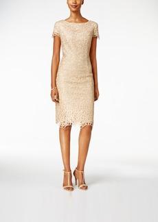 Alex Evenings Lace Cap-Sleeve Sheath Dress
