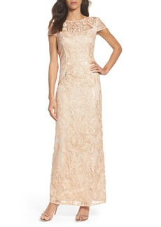 Alex Evenings Lace Column Gown