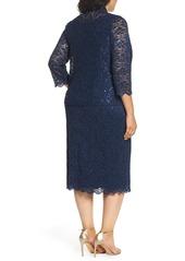 Alex Evenings Lace Dress & Jacket (Plus Size)