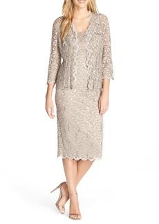 Alex Evenings Lace Dress & Jacket (Regular & Petite)
