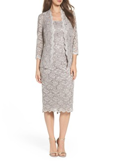 Alex Evenings Lace Dress & Jacket (Regular & Petite)