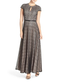 Alex Evenings Lace Fit & Flare Gown (Regular & Petite)