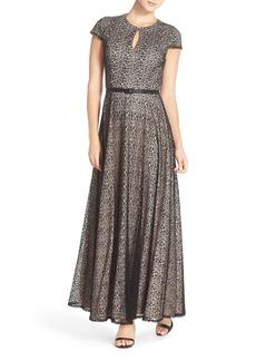 Alex Evenings Lace Fit & Flare Gown (Regular & Petite)
