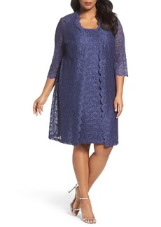 Alex Evenings Lace Jacket Dress (Plus Size)