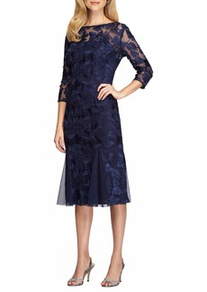 Alex Evenings Lace Midi Dress (Regular & Petite)