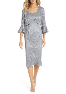 Alex Evenings Lace Sheath Dress & Bolero (Regular & Petite)
