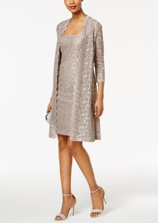 Alex Evenings Lace Sheath Dress And Jacket