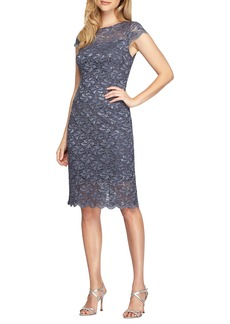Alex Evenings Lace Sheath Dress (Regular & Petite)