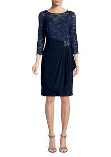 Alex Evenings Lace Shift Dress