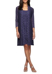 Alex Evenings Lace Shift Dress with Jacket