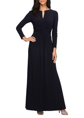 Alex Evenings Ruched Gown